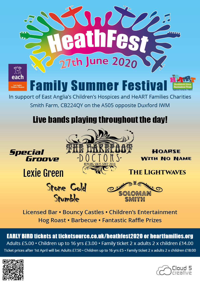 Heathfest Cambs 2020 poster